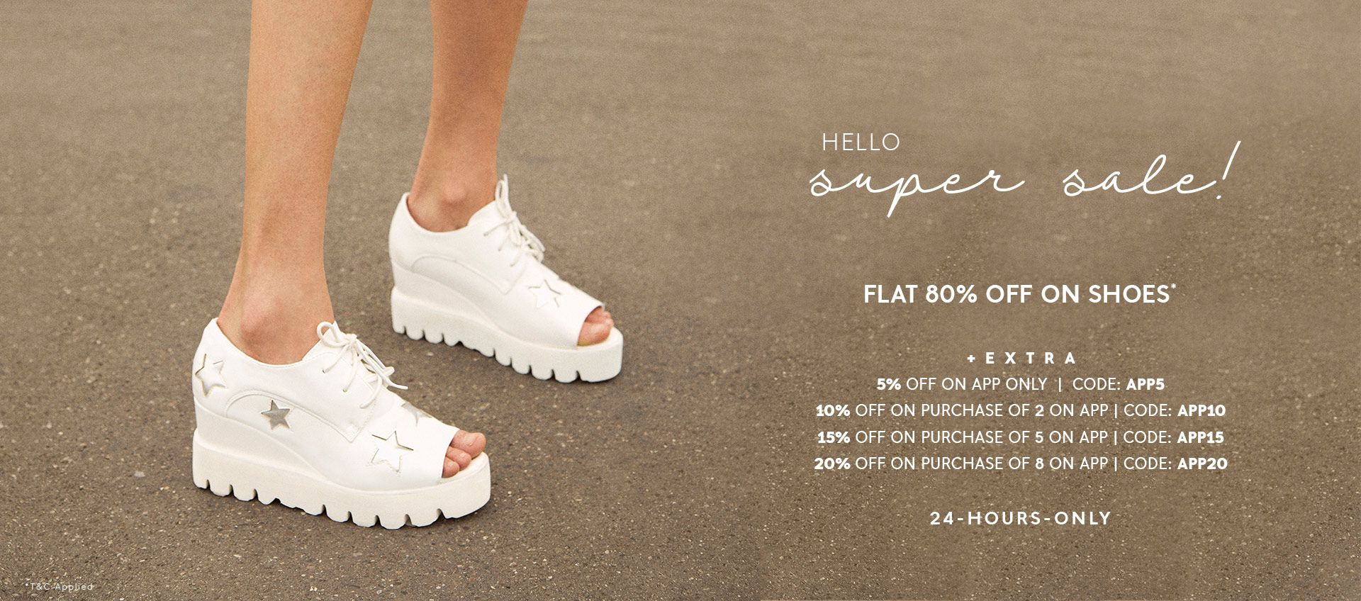 FLAT 80% OFF ON SHOES