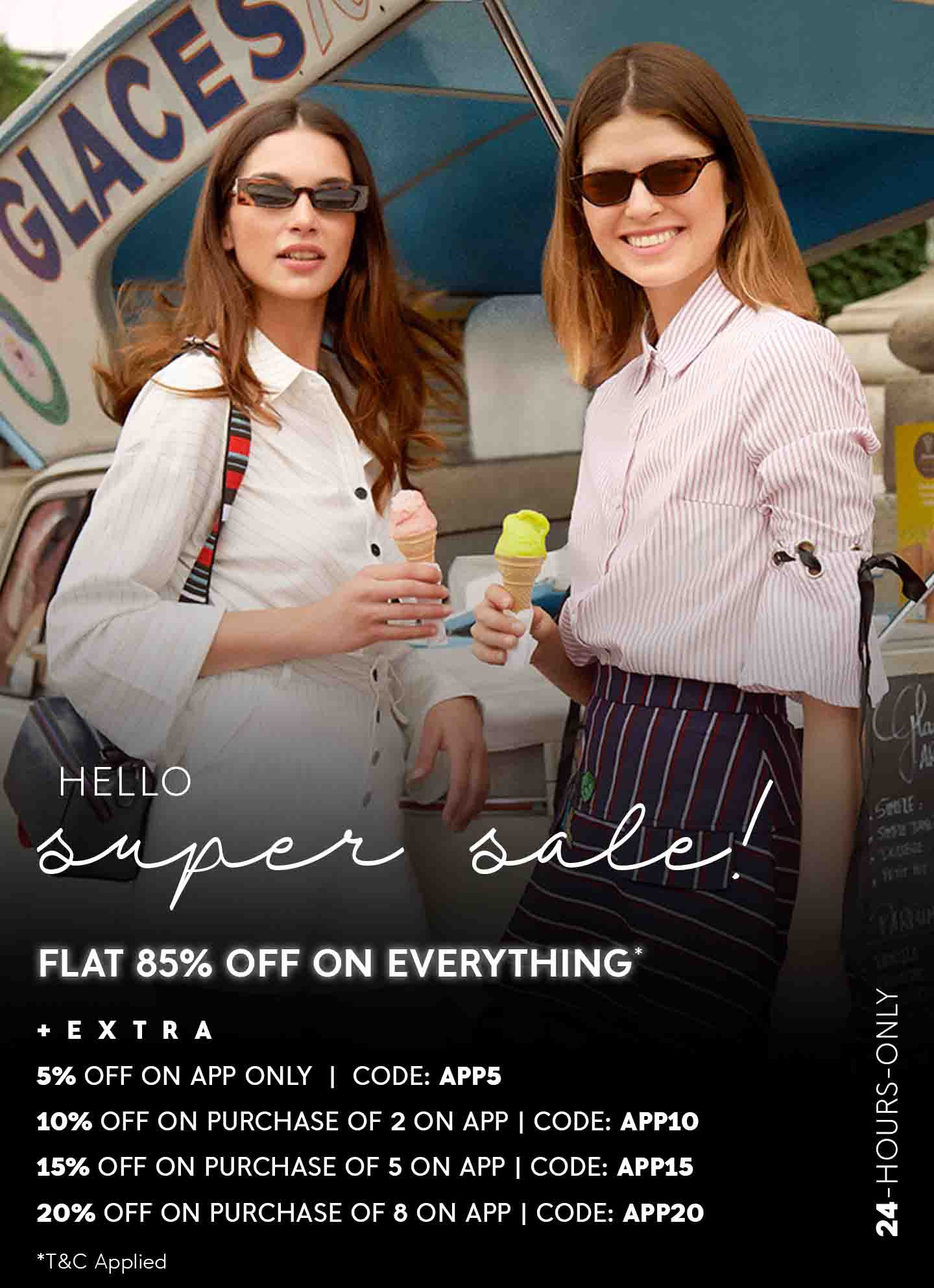 FLAT 85% OFF ON EVERYTHING