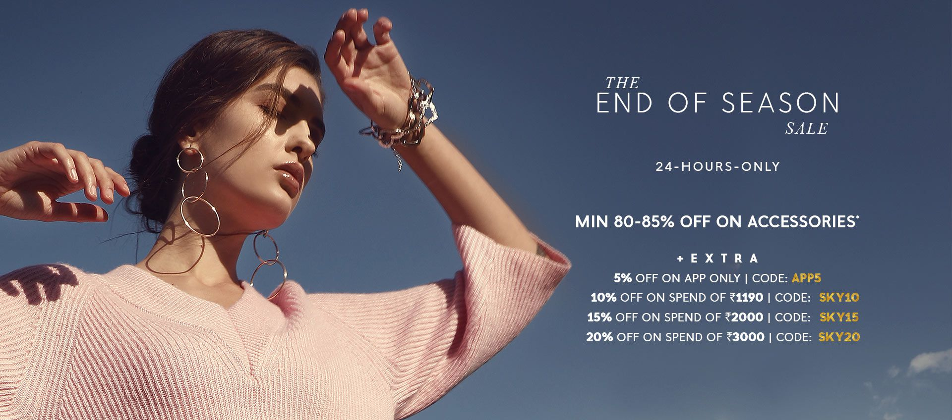 MIN 80-85% OFF ON ACCESSORIES