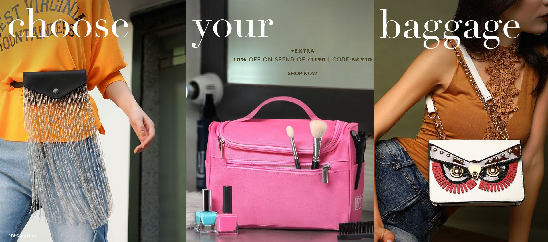 FLAT 80% OFF ON BAGS