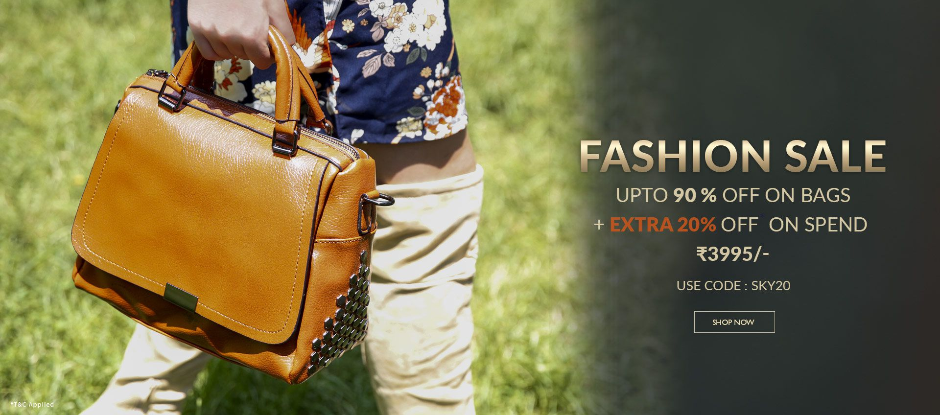 FASHION SALE UPTO 90% OFF ON BAGS