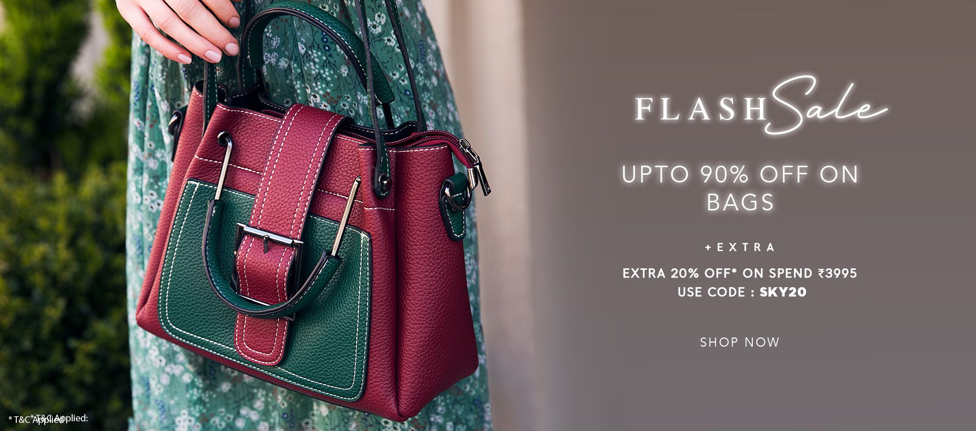 FLASH SALE UPTO 90% OFF ON BAGS
