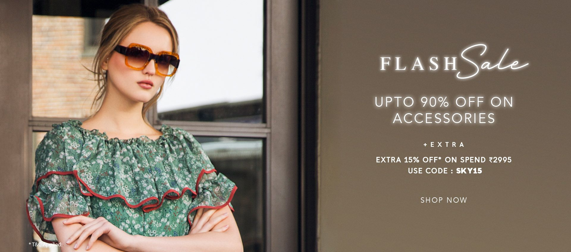 FLASH SALE UPTO 90% OFF ON ACCESSORIES