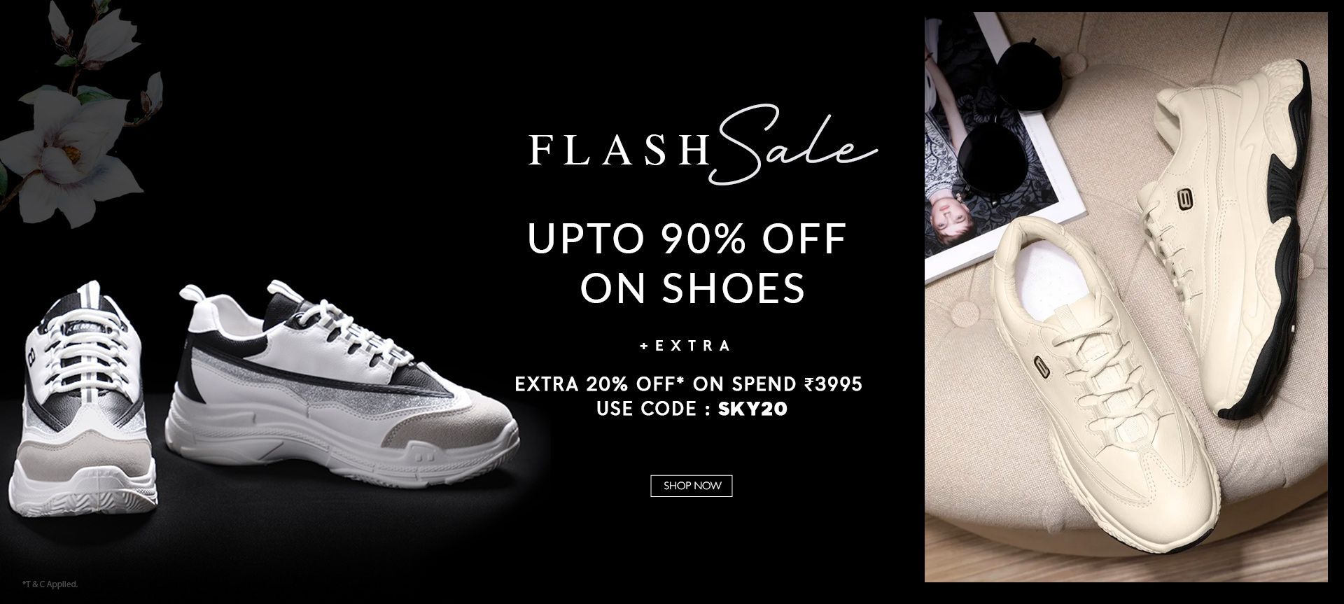 FLASH SALE UPTO 90% OFF ON SHOES