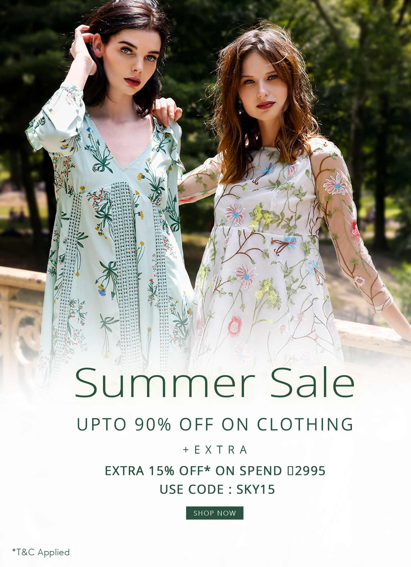 SUMMER SALE UPTO 90% OFF ON CLOTHING