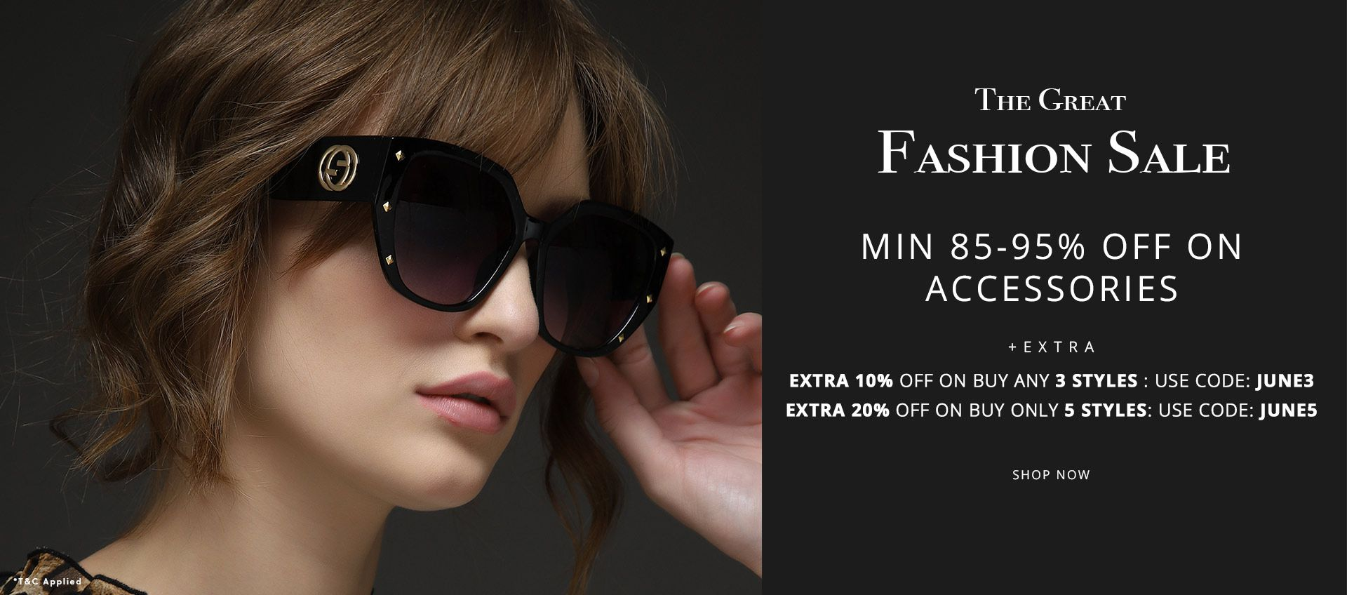 the great fashion sale min 85-95% off