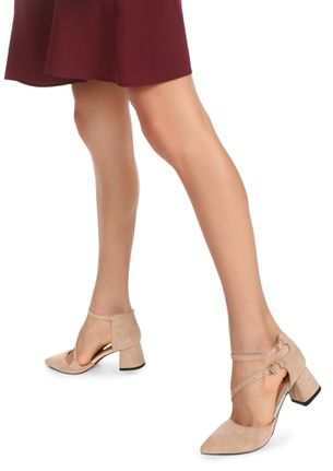 ON THE LOW DOWN NUDE PINK HEELED SHOES