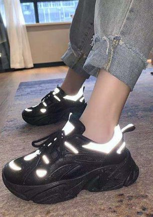 BOLD STEPS ALL THE WAY BLACK TRAINERS