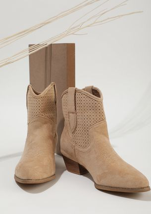GETTING STARTED CAMEL BROWN ANKLE BOOTS