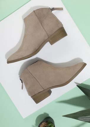 CHILLY DAYS COZY FEET BEIGE BOOTS