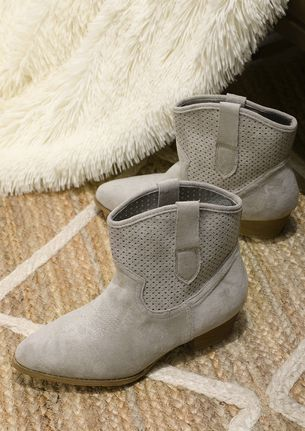 GETTING STARTED GREY ANKLE BOOTS
