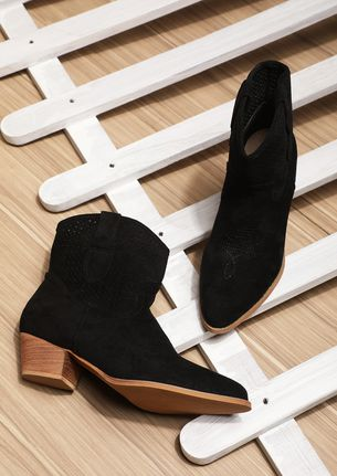 GETTING STARTED BLACK ANKLE BOOTS