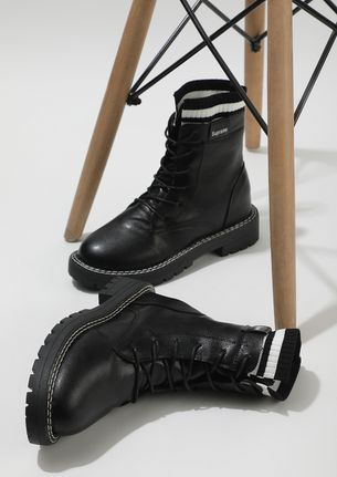 MARCHING TOWARDS MY DREAM BLACK COMBAT BOOTS