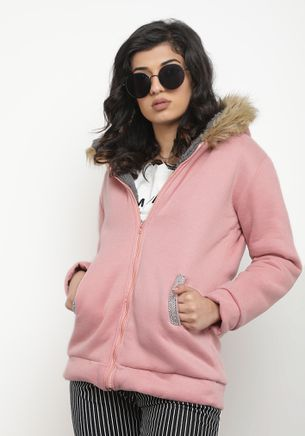 LET THE WINTER COME PINK PARKA
