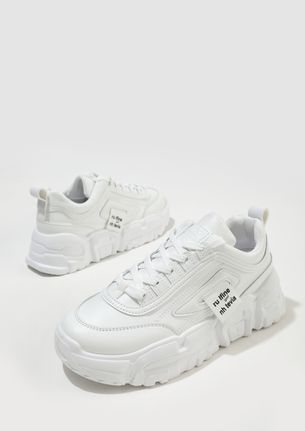 COMFY ON FLEEK WHITE TRAINERS