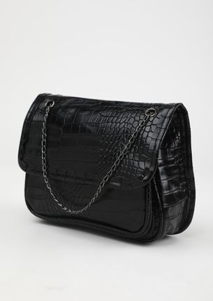POUCH IT UP BLACK SLING BAG