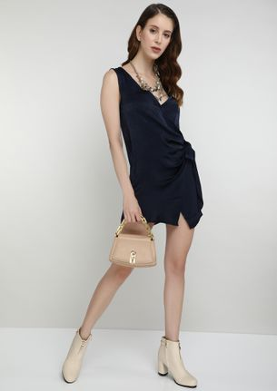 SPRING IS COMING IN SHEEN BLUE SPAGHETTI DRESS
