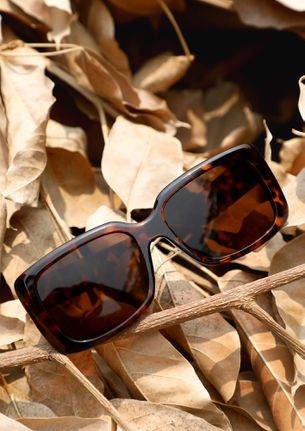 GRANNY APPROVED AMBER BROWN WAYFARERS