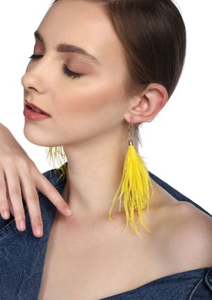 GOSS BABE WINGS OF AN ANGEL YELLOW EARRINGS