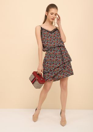 Summer In The City Black Floral Dress