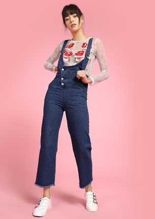 BLUE FUN WITH BUTTONS DUNGAREES