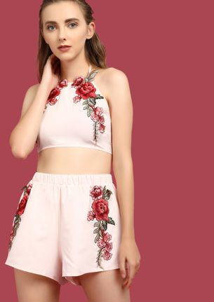 LEAF NO STONE PINK TWO PIECE SET