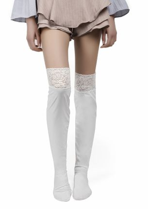BIKER GIRLS' ESSENTIAL WHITE STOCKINGS