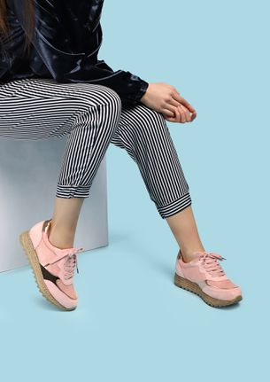 BRING YOUR SHIMMER SIDE PINK TRAINERS