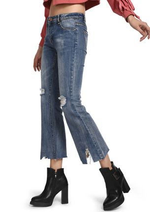 SHOW US YOUR RAW SIDE BLUE STRAIGHT JEANS