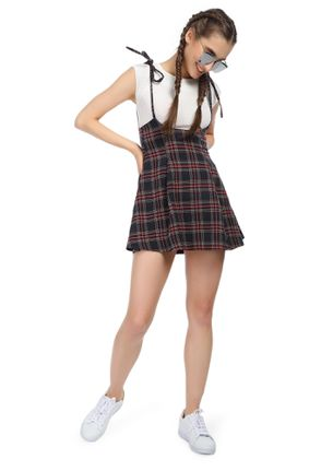 ON THE SQUARE TARTAN PINAFORE SKIRT