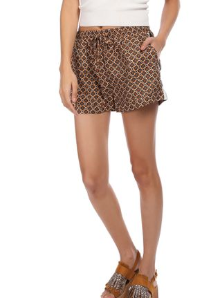 A LIL PSYCHEDELIC CAMEL BROWN CASUAL SHORTS