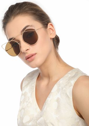 FAVORITE STYLE NUMBER TAN CATEYE SUNGLASSES