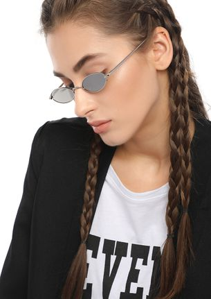 SEE ME 9-5 SILVER GREY OVAL SUNGLASSES
