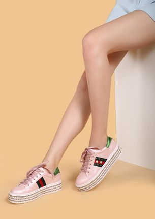 SOLE CONNECTION PINK CASUAL SHOES