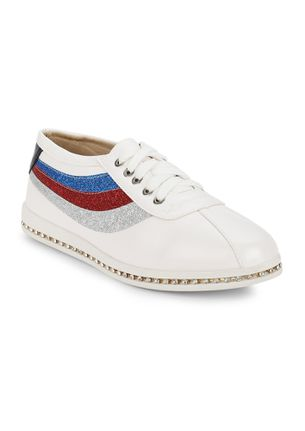 SPORTY-CHIC DONE RIGHT WHITE CASUAL SHOES