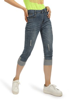 NEED YOU NOW BLUE CROPPED DENIMS