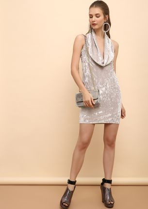 SWEET FINISH GREY BODYCON DRESS