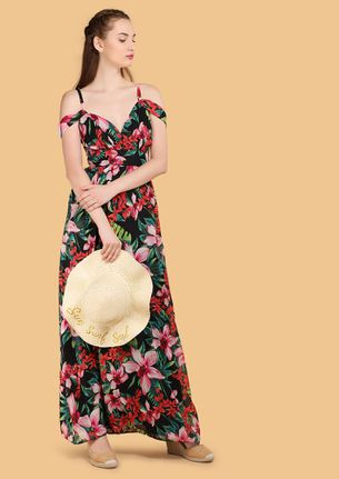 FEELING TROPICAL MULTICOLOR MAXI DRESS