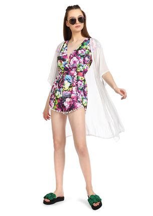 GIFT ME A NEON BOUQUET PRINTED ROMPER