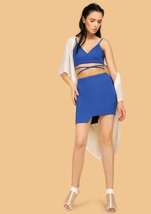 TWO HOT TWO HANDLE BLUE TWO PIECE SET