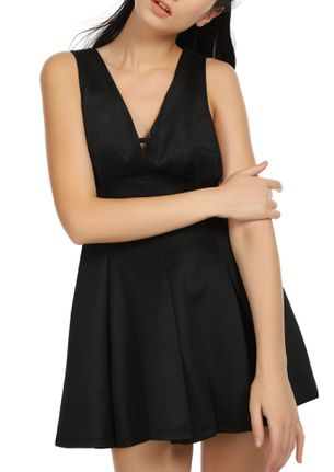WILD THOUGHTS BLACK PINAFORE DRESS