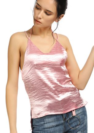 SHINE UNDER THE MOON PINK CAMI TOP