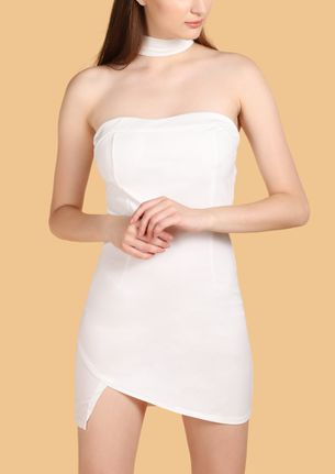 My Lady In White Bodycon Dress