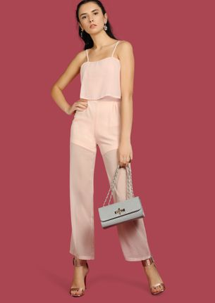 SHEER-UP BABY PINK JUMPSUIT