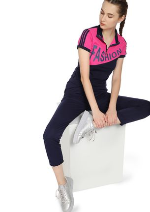 THE FITNESS OUTFIT PINK NAVY TRACKSUIT