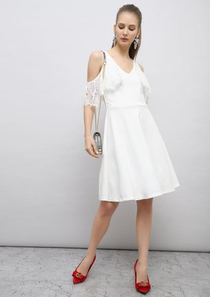 CAUSE YOU'RE A DARLING WHITE SKATER DRESS