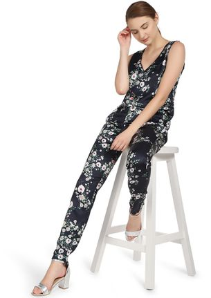 FLORALLY AWESOME NAVY JUMPSUIT