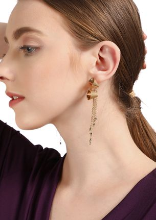 GOSS BABE TWO OF A KIND GOLD EARRINGS