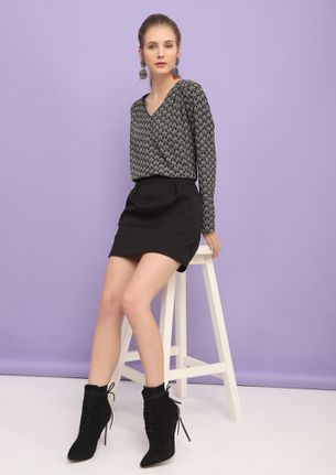 MIND YOUR OWN BUSINESS BLACK TUNIC DRESS