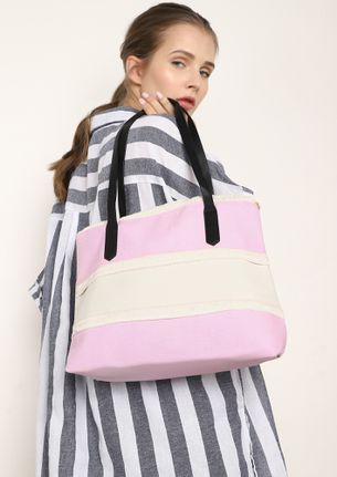 THE FRAY EFFECT PINK TRAVEL BAG